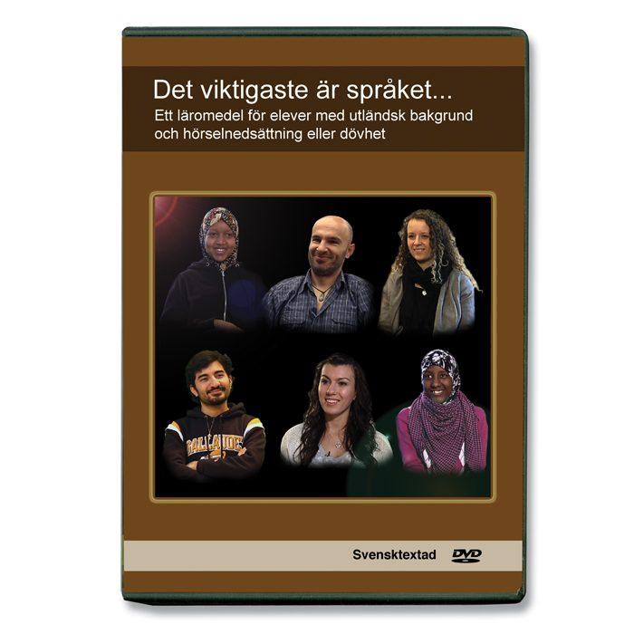 Bild som visar dvd-boxen Det viktigaste är språket...