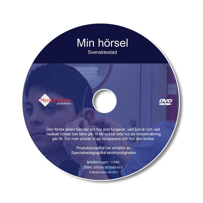 Bild som visar framsidan på dvd-skivan Min hörsel, textad