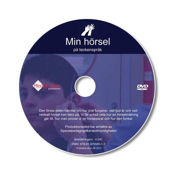 Bild som visar framsidan på dvd-skivan Min hörsel, på teckenspråk
