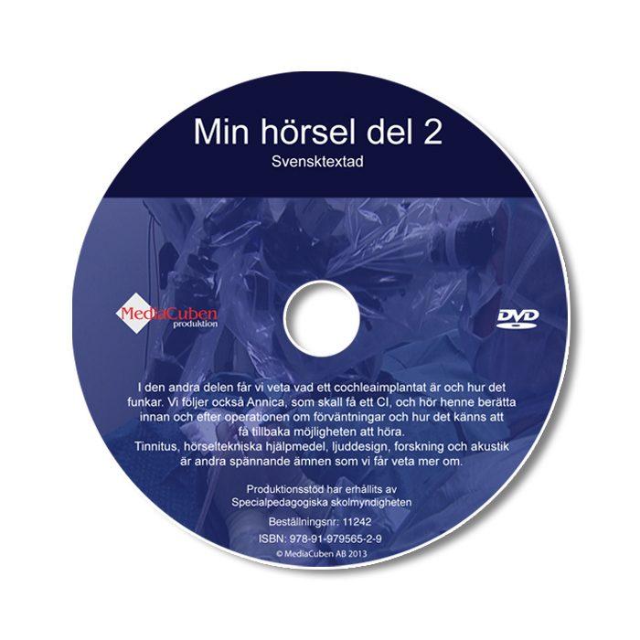 Bild som visar framsidan på dvd-skivan Min hörsel del 2, textad