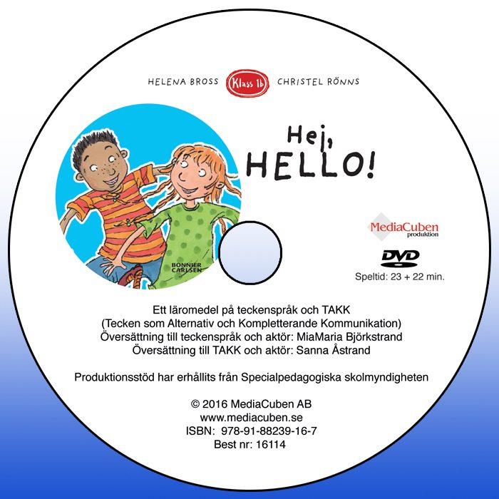 Bild på dvd framsida Hej, hello!