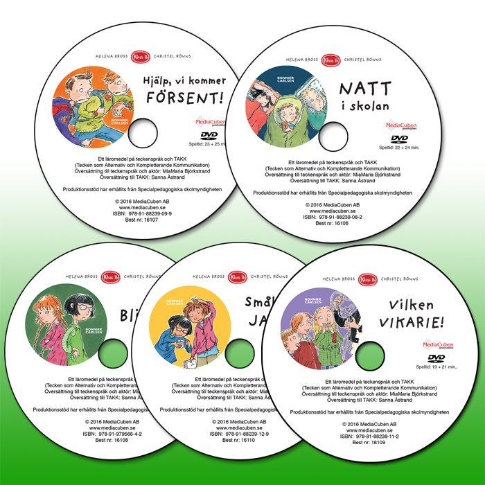 Samlingspaket med 5 st dvd